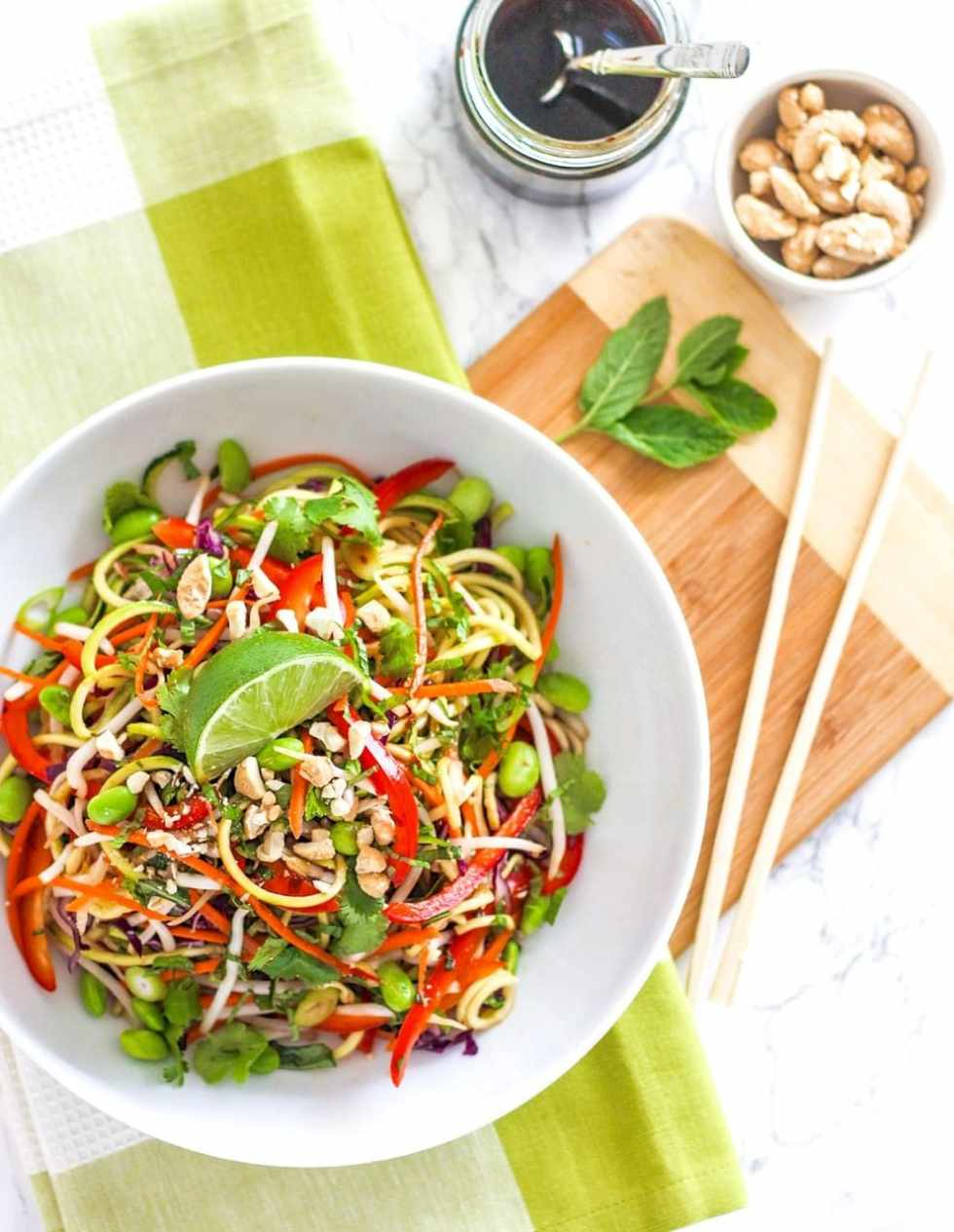 Bell Pepper Recipes: Vegan Zucchini Noodle Pad Thai