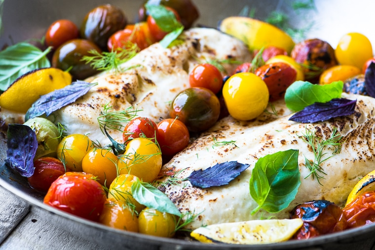 Creative recipes with basil-easy whitefish