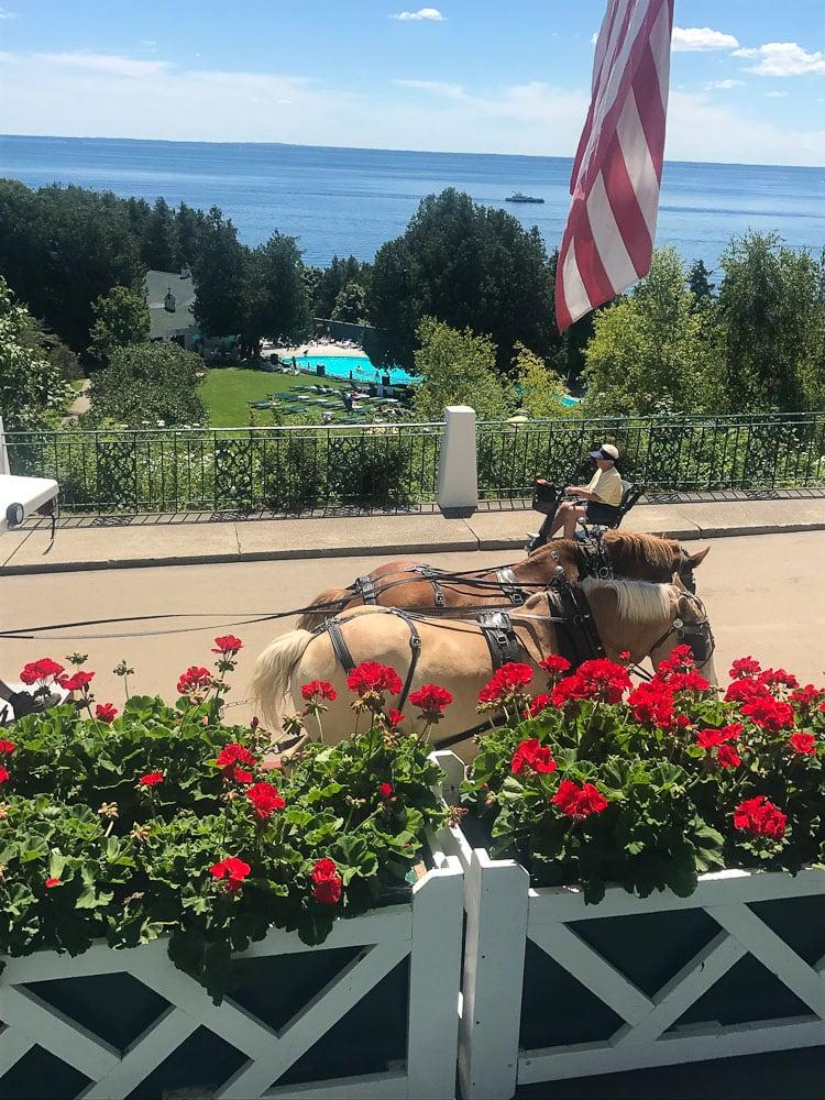 Northern Michigan Vacation--Grand Hotel porch view