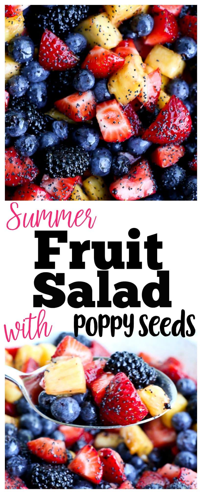 summer fruit salad recipe   poppy seeds   honey lime dressing   gluten-free   healthy recipe   pot-luck recipe