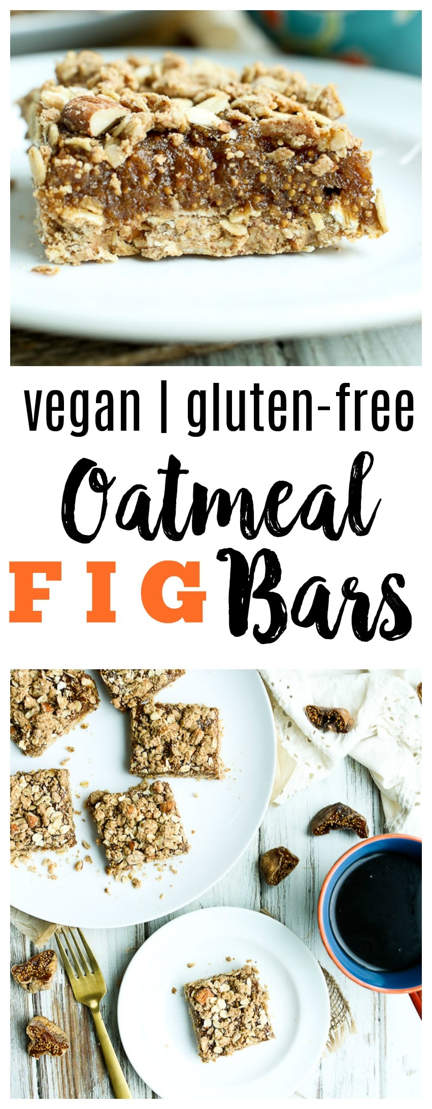 Oatmeal Fig Bars Recipe. gluten-free and vegan healthy recipe great for breakfast snack or dessert