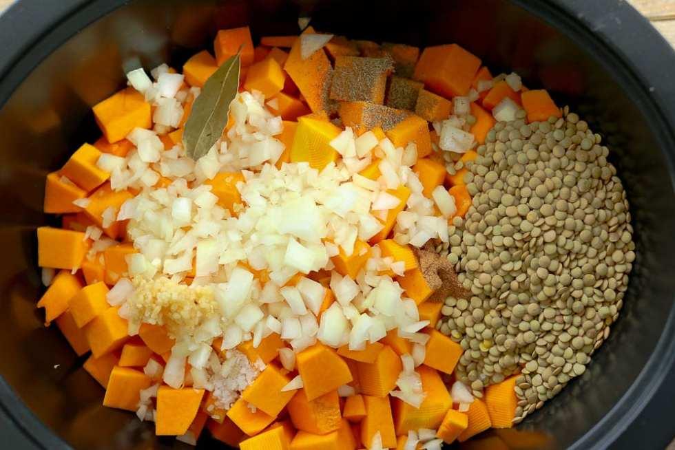 Slow Cooker Butternut Squash Lentil Soup recipe ingredients