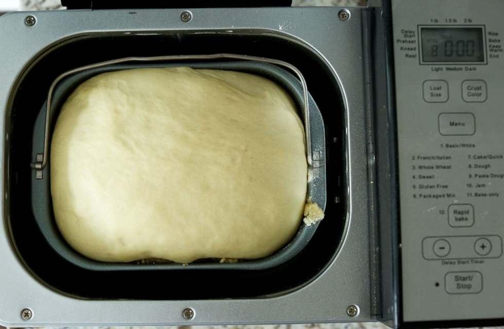 Perfect Bread Machine Dinner Rolls--the dough in the bread machine