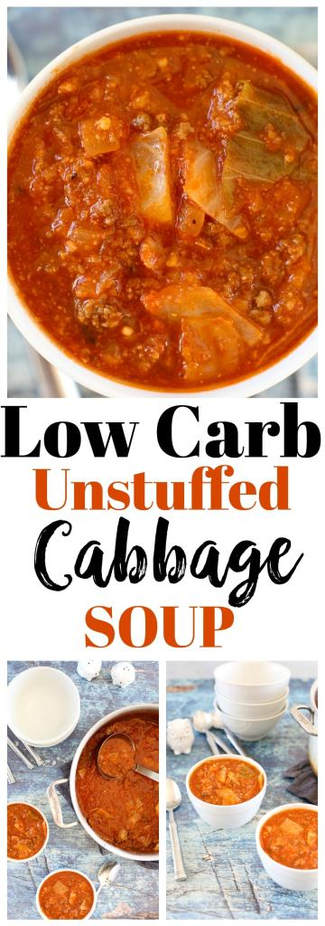 Unstuffed Cabbage Soup Recipe #lowcarb #whole30 #paleo #glutenfree #healthysoup