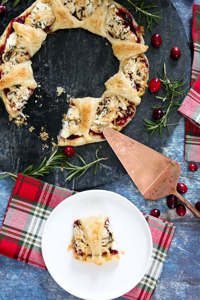 Puff Pastry Wreath Appetizer recipe serving