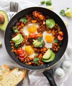 sweet potato recipes - sweet potato breakfast skillet recipe