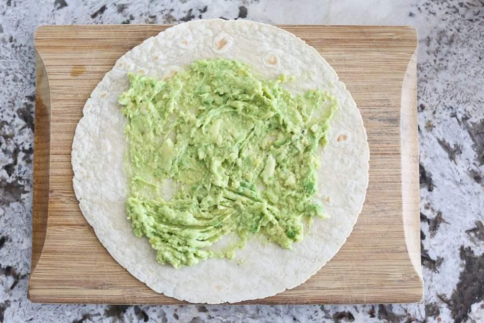 Hummus Veggie Wrap recipe with avocado