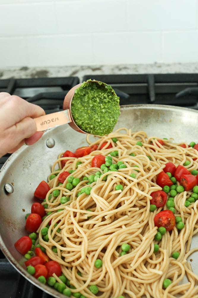Arugula Pesto Pasta instructions