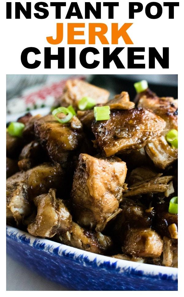 Instant Pot Jerk Chicken Recipe #instantpot #chicken #dinner #easy #quick #recipe #healthy #glutenfree #healthyrecipes #weeknightdinner