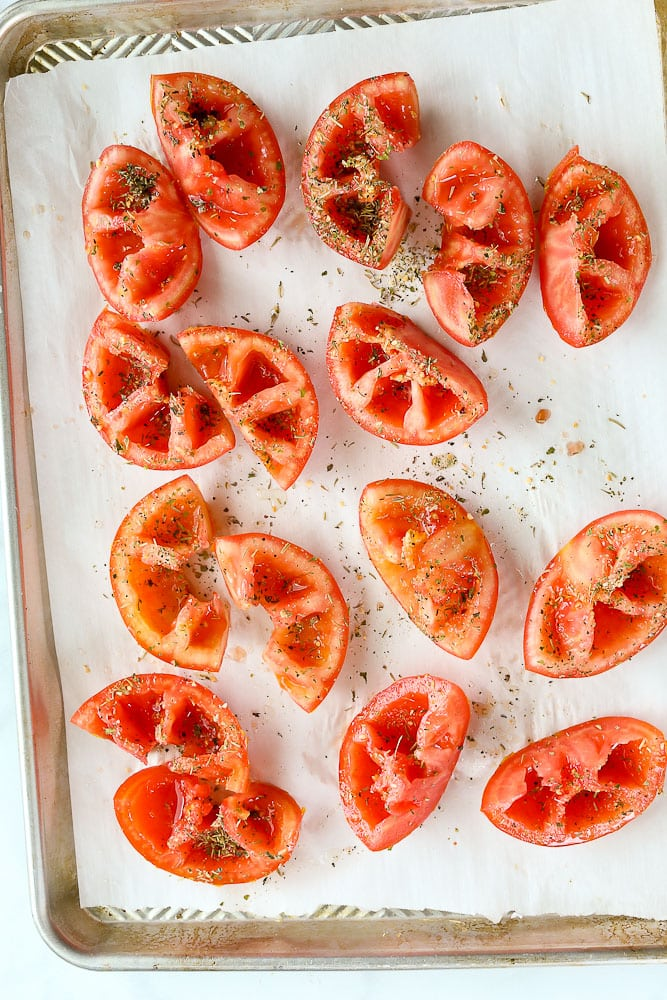 How to make Roasted Tomatoes in the oven before shot