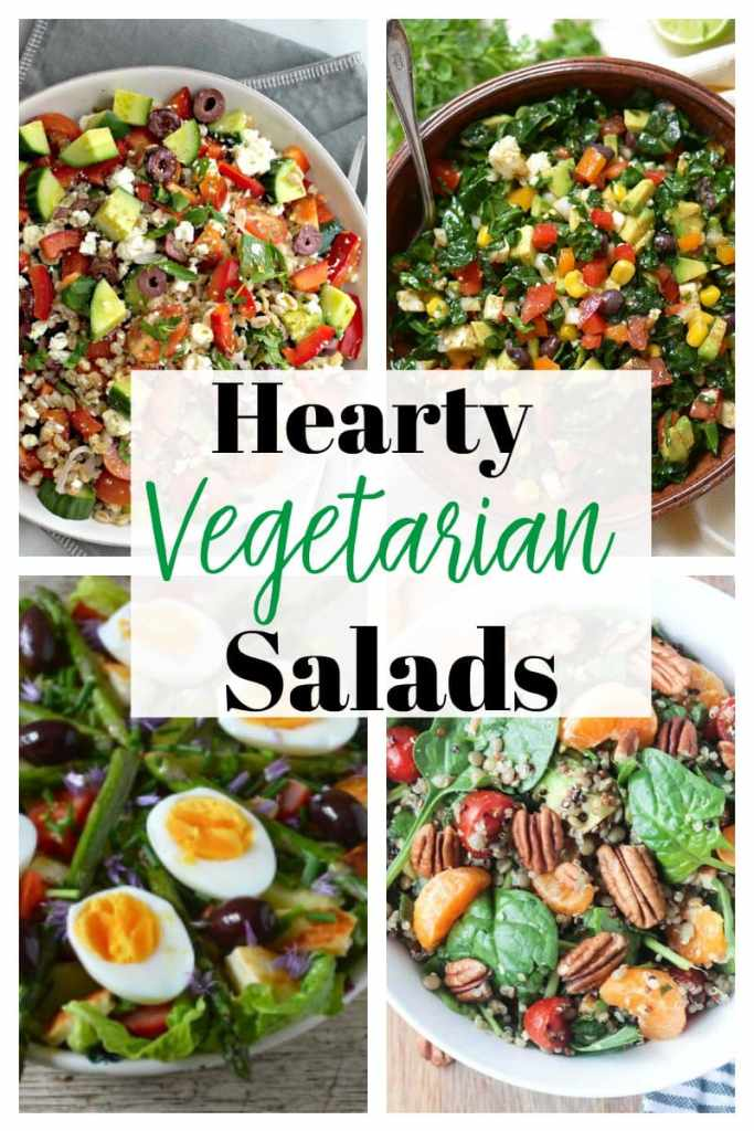 Hearty Vegetarian Salad Recipes #protein #hearty #healthy #recipes #lunch #dinner #ideas #chickpea #quick #mealprep