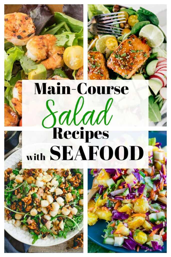 Salad Recipes with Seafood #salmon #shrimp #scallops #seafood #healthy #maindish #healthy #recipes #easy