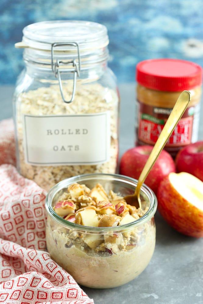 Apple Peanut Butter Overnight Oats REcipe