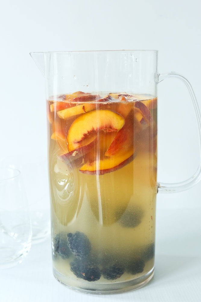 White Sangria Recipe in pitcher