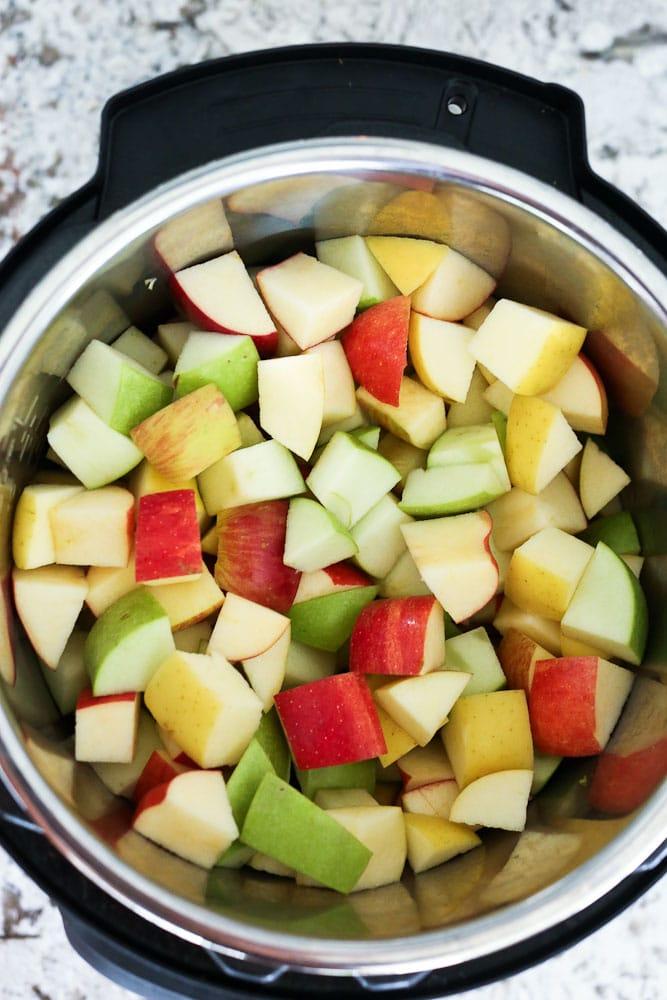 Instant Pot Applesauce apples in the Instant Pot
