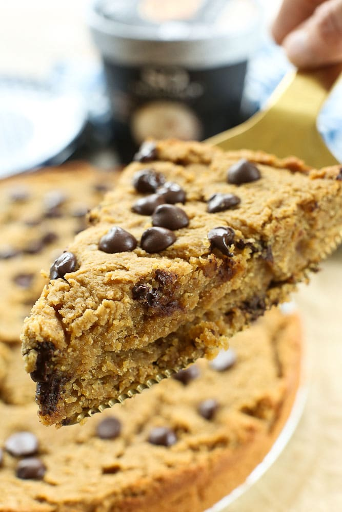 Peanut Butter Chocolate Chip Cookie Pie