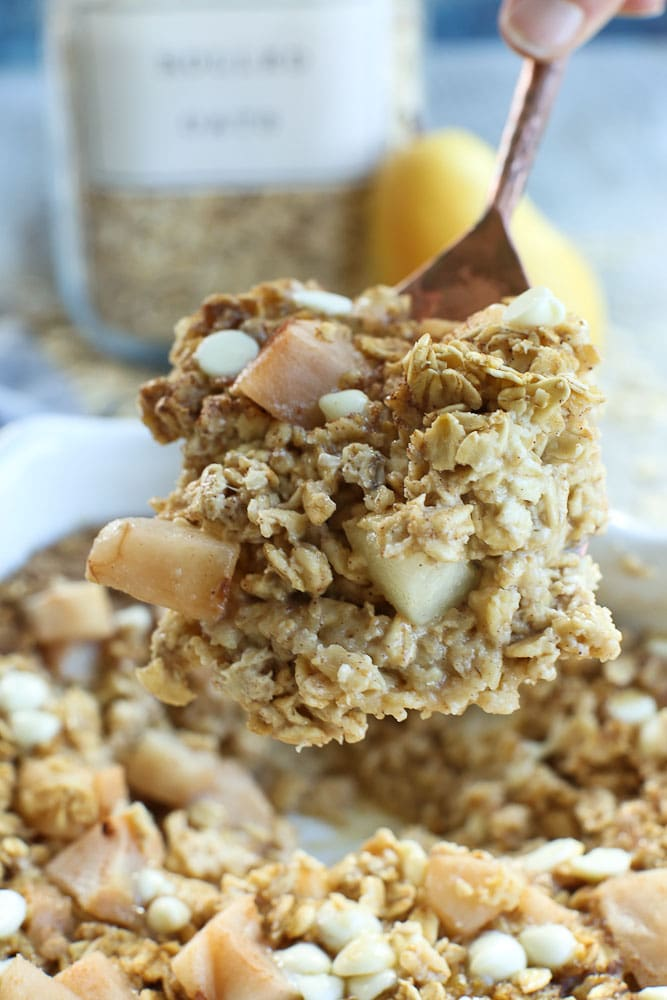 Baked Oatmeal with Pears easy healthy simple