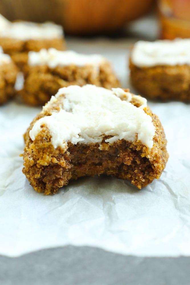 Low Carb Pumpkin Cookies recipe vegan gluten free low car keto