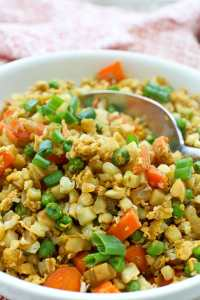 Cauliflower Fried Rice recipe easy low carb keto