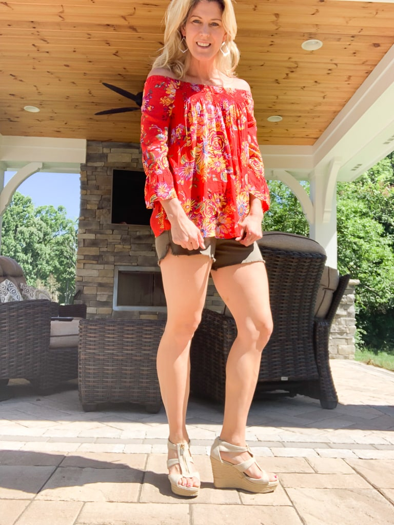 Stitch Fix Summer 2019 Beach Lunch LoungeLatoya Bell Sleeve Peasant Top