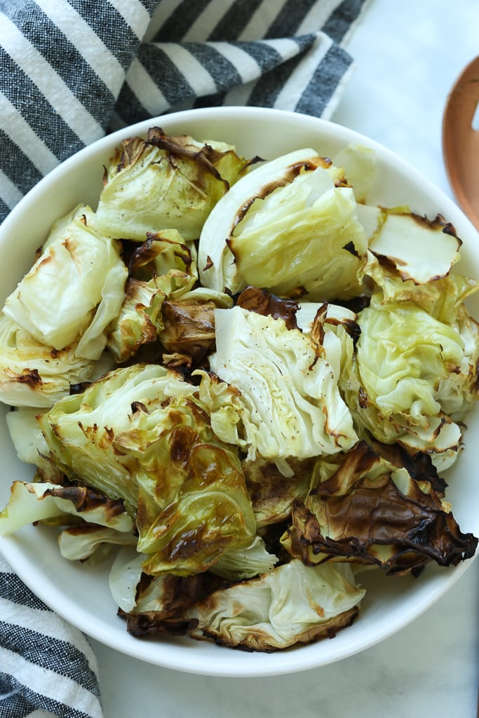 Roasted Cabbage recipe in a bowl