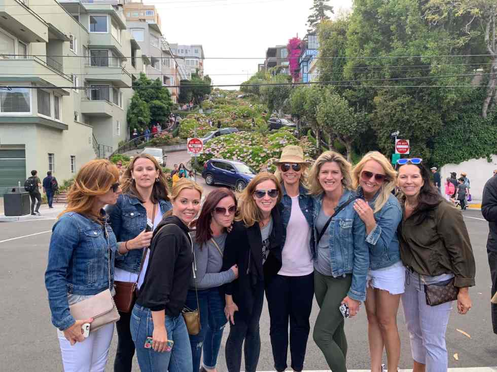 group picture in San Fransisco