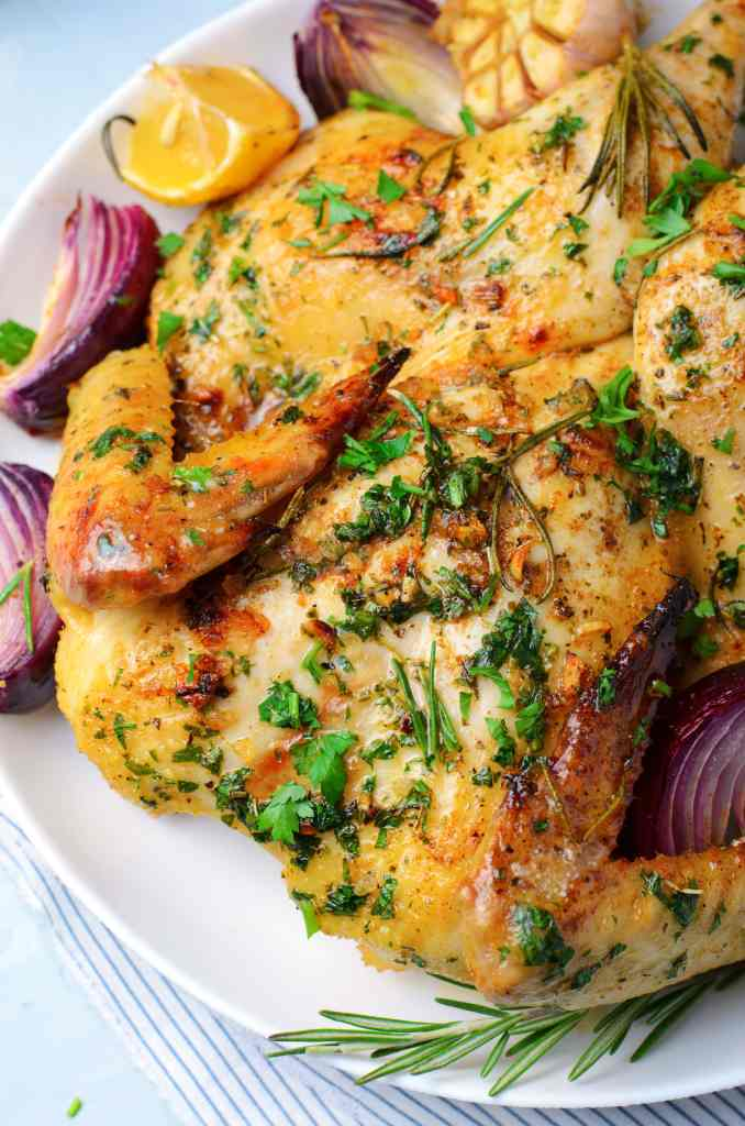 oven roasted chicken recipe with herbs