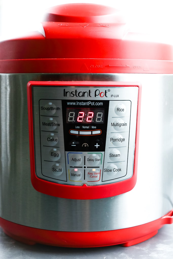 an Instant Pot set to 22 minutes