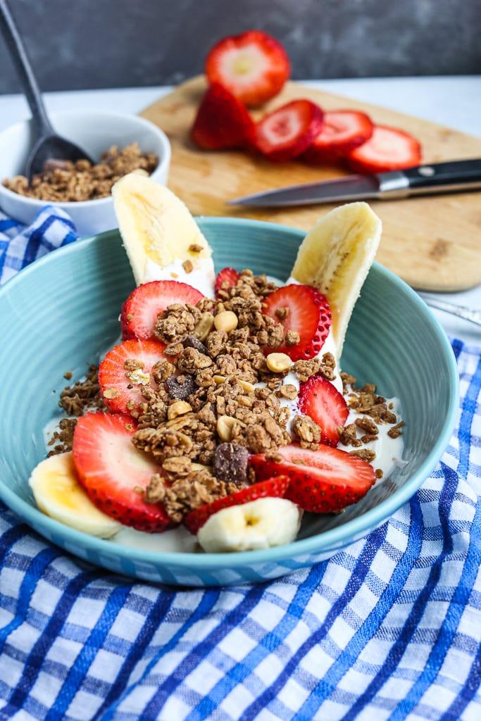 Healthy Banana Split Breakfast Bowl