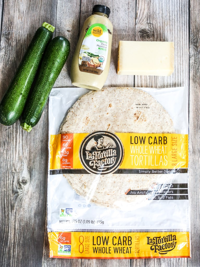 ingredients for Grilled Zucchini Quesadilla recipe