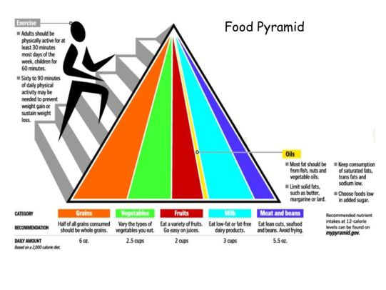 2005 Food Guide Pyramid for Health and Fitness
