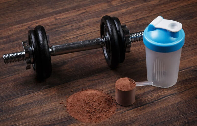 Protein Shake with Weight