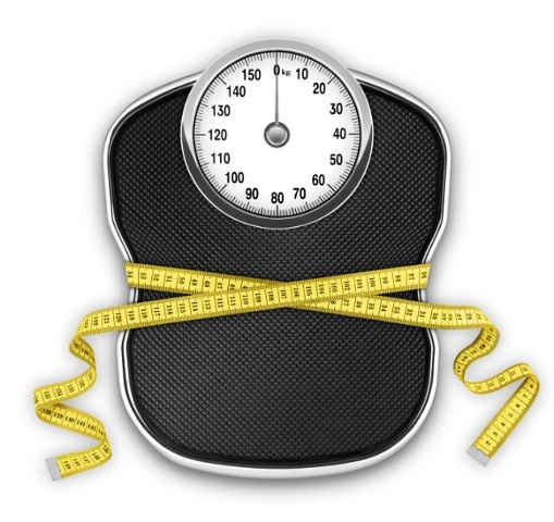 Scale with Measuring Tape Around it for Weight Loss