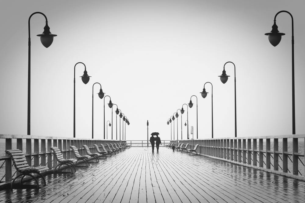 Two People on a Pier Representing Relationship Confidence