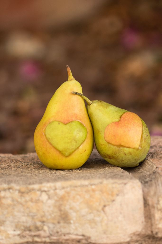 Pears with Hearts