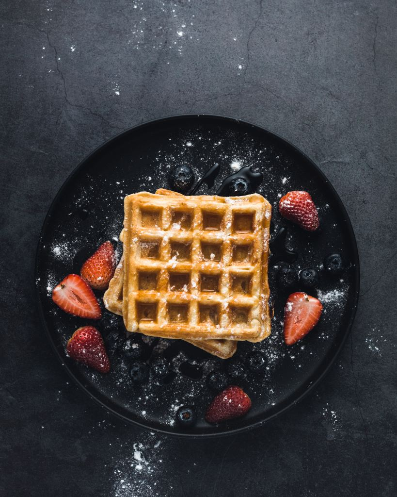 Keto Waffle with Berries
