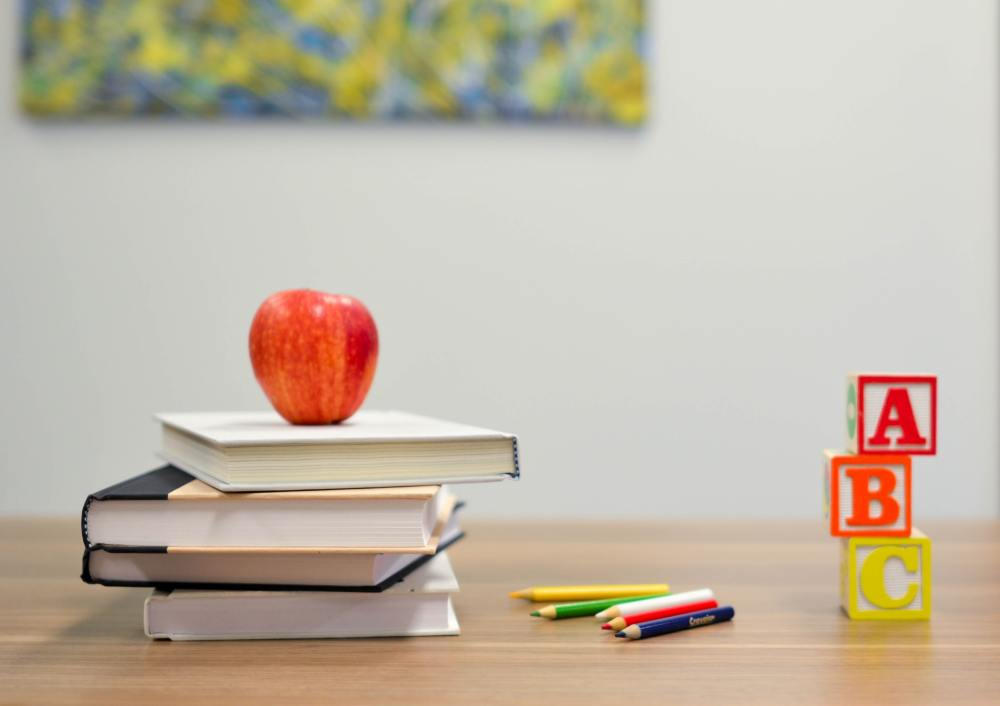 Blocks and Apple on Top of Books - How to Build Healthy Baits