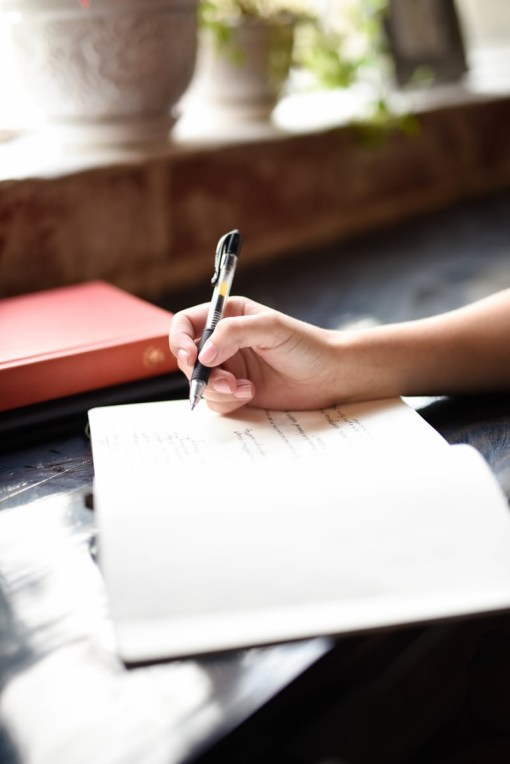 Person Writing In A Journal- How To Cut Back On Sugar