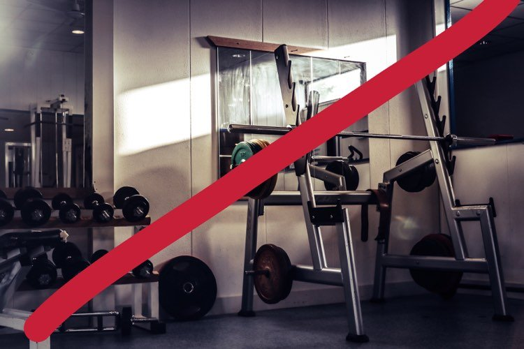 No Equipment Needed For Burpees- Weight Bench Crossed Out