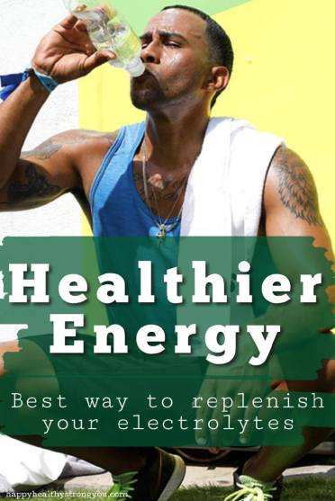 Healthier Energy Best Way To Replenish Electrolytes - Man Drinking Sports Drink