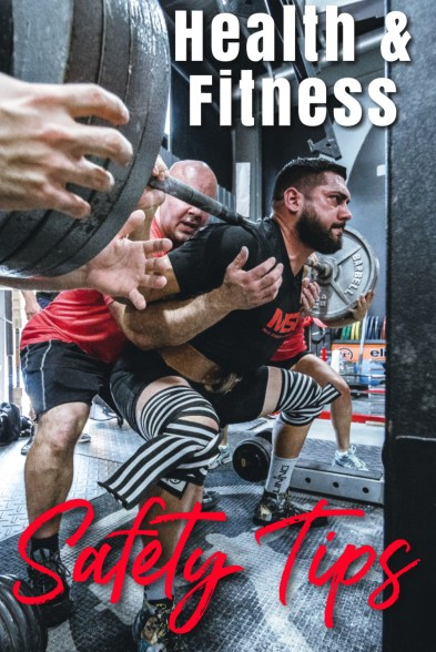 Health And Fitness Safety Tips With Man Squatting