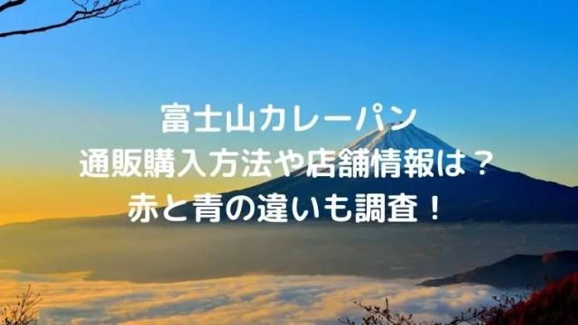 富士山カレーパンの通販購入方法や店舗情報は?赤と青の違いも調査!