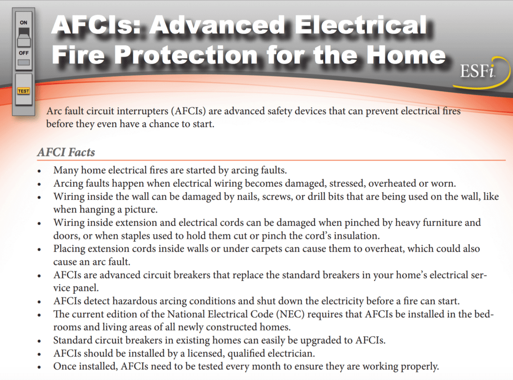 Protection Against Electrical Fires And Shocks