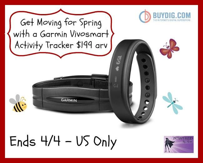 Garmin vivosmart Bluetooth Activity Tracker with HRM Giveaway