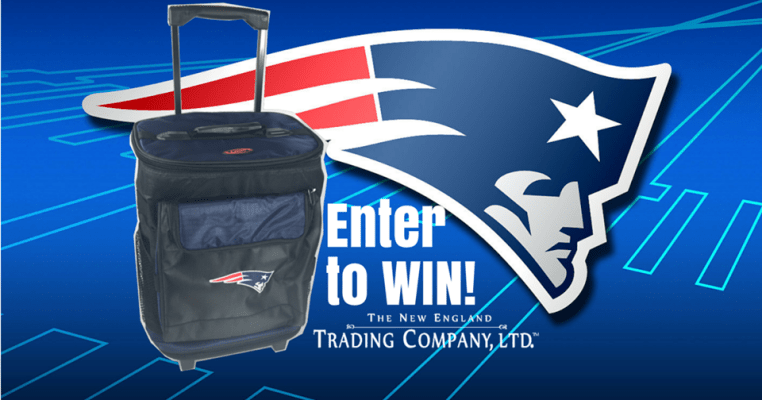 New England Trading Company - Patriots Rolling Cooler Sweepstakes