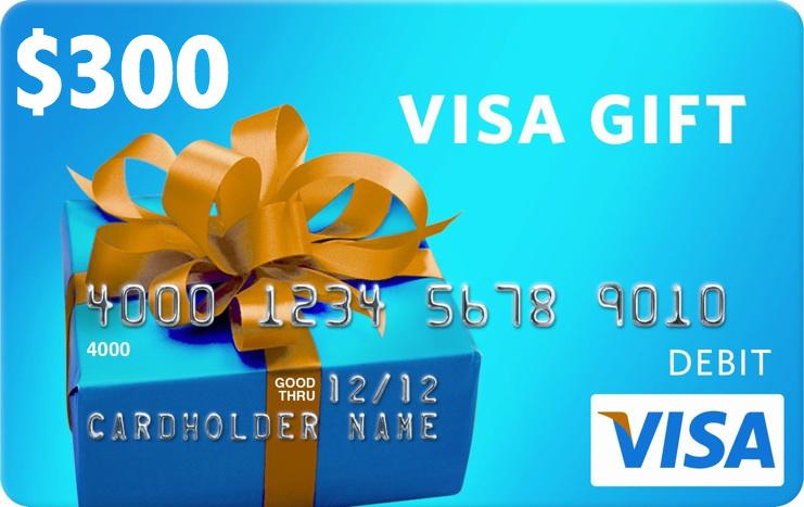 Visa $300 Gift Card Sweepstakes