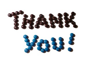 Thank You with M&M's