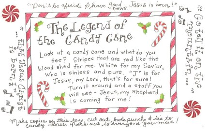 click here for your free printable candy cane - Candy Cane Printables