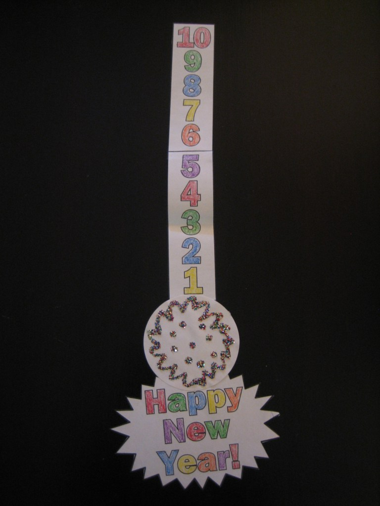 New Years Craft Countdown Ball Drop Decoration Happy