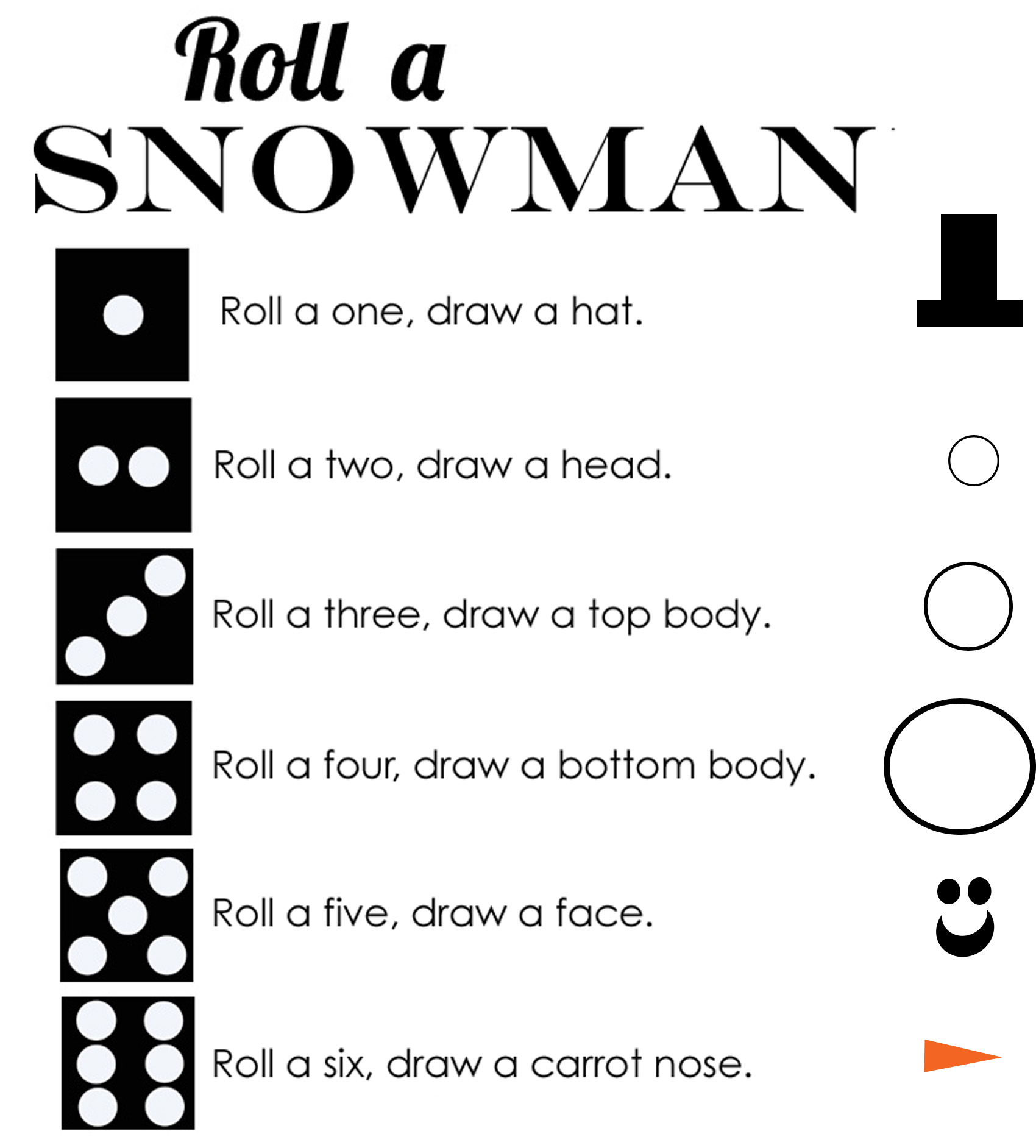 3 Easy And Fun Snowman Games